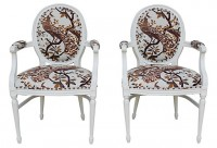Peacock Chairs, Pair
